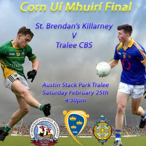 Corn Ui Mhuiri Football Final – St. Brendan's Killarney 2-20 Tralee CBS 0-11 – Match Report / Video