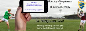 Live Streaming of Harty Cup & Corn Thomáis Mhic Cholim Finals on Saturday